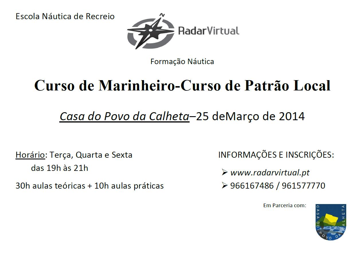 CURSO DE MARINHEIRO E PATRÃO LOCAL